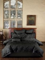 Linen House King Bed Quilt Doona Cover Set 5 piece package - Tara Black