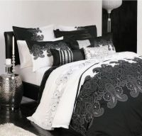 Queen Bed Quilt Cover Set and Euros by Logan and Mason Kasbah Black and White