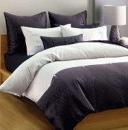 Queen bed quilt cover set Shandong Black and White 6 piece