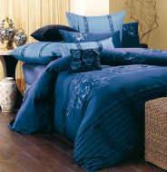 Queen Bed Quilt Cover Set Azul Blue 7 PIECE