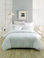 Deco Ashton Blue King Bed Quilt Cover Set 6 piece package