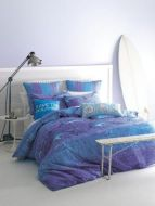 Linen House QUEEN Quilt Cover Set 8 piece Cathie Maney Save the Dolphins ocean beach surf