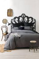 Linen House Lavinia 6 piece Bed Pack Charcoal Cotton Sateen 300 TC