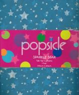 SPARKLE STAR Tab Top Curtains 2x140x213cm BLUE