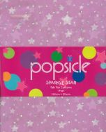 SPARKLE STAR Tab Top Curtains 2x140x213cm PINK