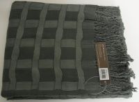OSCAR charcoal grey THROW 130 x 170cm - RRP $99.95