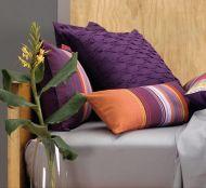 Pair European Pillowcases ACAPULCO 65x65cm LINEN HOUSE cotton GRAPE PLUM