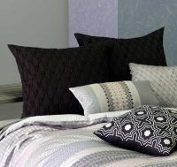 European Pillowcases Pair MATTEO 65x65cm cotton sateen BLACK