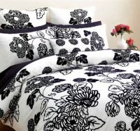 DECO Black and White KING Quilt Cover Set ANNABELLE with Euros