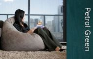 Urban Faux Suede Bean Bag Cover PETROL GREEN New