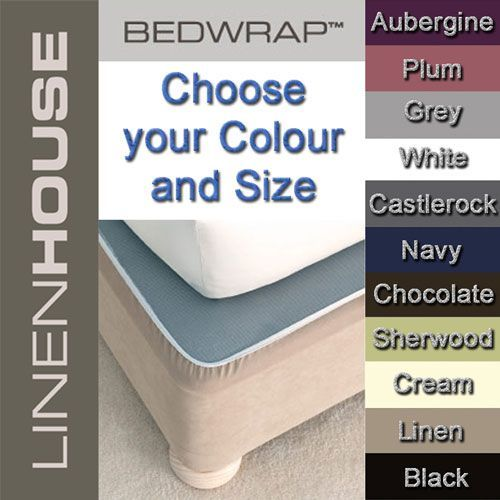 Bedwrap fitted valance easy fit stretch bedskirt