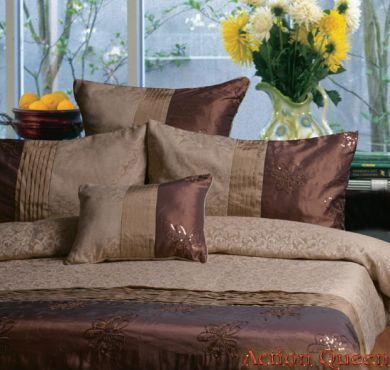 King quilt cover set brown taupe Bella Linen New