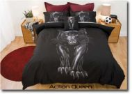 Black Panther Queen Bed Quilt Cover Set New