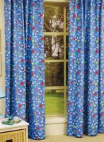 Blue Blockout curtains concealed tab top Beach Theme