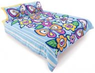 Happy House Quilt Cover Set Single Blueberry Delight Polyester Cotton