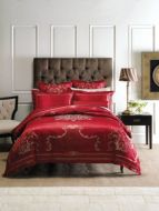 Linen House Classic Collection Boleyn Red Queen Bed Pack 6 piece