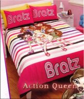 BRATZ DOUBLE BED QUILT COVER SET Striped Bright