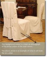 Chair covers NATURAL faux suede long length PAIR