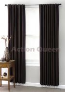 CLUB LINEN Chocolate BLOCKOUT curtains 180x2x213cm UVR sun protection block heat and keep cool in summer