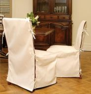 CHAIR COVERS COTTON NATURAL LONG LENGTH 2 PER PACK