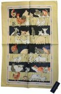ULSTER WEAVERS Linen Tea Towel COUNTRY COUSINS 51x75cm NEW