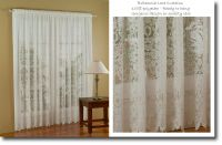 LACE CURTAINS 5M x 213CM BRITANNIA WHITE