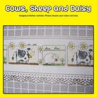 Cafe Cows Sheep and Daisy Cafe style or Kitchen Curtain - Please choose your colour and size