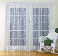 LACE CURTAINS FLORAL LEAF SWIRL DESIGN White or Cream