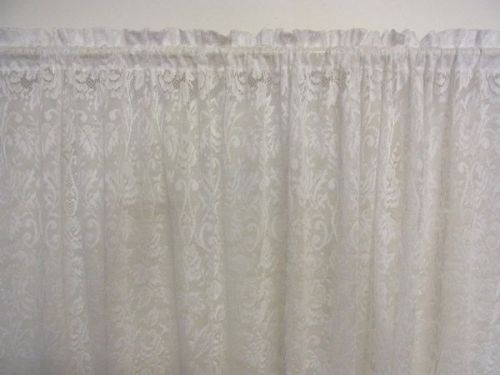Traditional Rose Jacquard Lace Rod Pocket Curtain 3 or 5 metre x 213cm drop