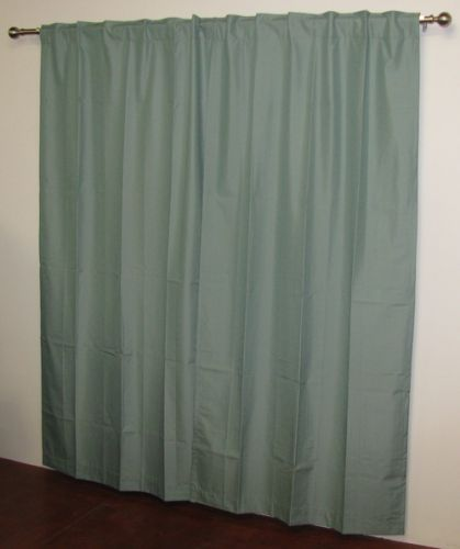 Blockout Curtains Concealed Tab Top Jade Green Made in Australia