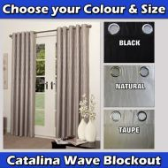 Blockout Eyelet Curtains Catalina Wave- Please choose your colour and size