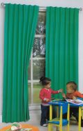 Blockout Curtains for Kids Concealed Tab Top Mint Green