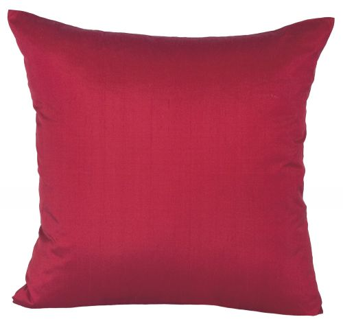 Linen House SILK CUSHION COVER RED 43X43 New