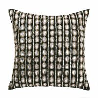 Cushion cover VALERIA BLACK sequins beads jewels 35x35cm