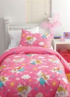 Single Quilt Cover Set Fairy Magic Dust Pink Girls Bedding