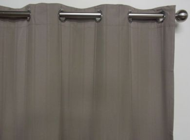 Eyelet Blockout Ready Made Curtain 1x140x221cm Driftwood Self-Stripe