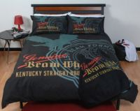 JIM BEAM DOUBLE BED QUILT COVER SET EAGLE