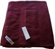 1 Egyptian Cotton Bath Sheet Towel 95x160cm BURGUNDY 650 GSM New