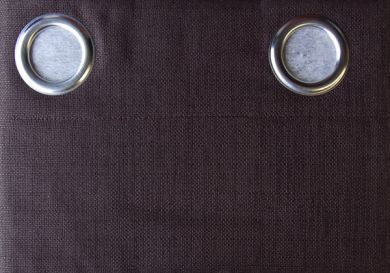 Eyelet Blockout Ready Made Curtain 1x140x221cm  Casino CHOCOLATE