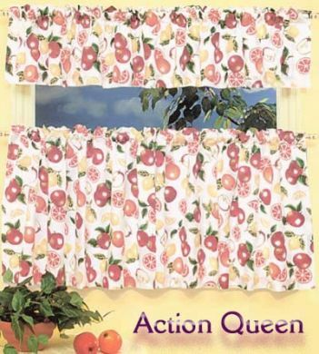 CAFE KITCHEN CURTAIN 200X60 FRUIT SALAD DESIGN New