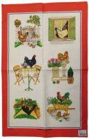 ULSTER WEAVERS Linen Tea Towel GARDEN HENS 51x75cm NEW