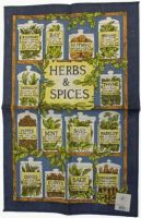 ULSTER WEAVERS Linen Tea Towel HERBS AND SPICES 51x75cm NEW
