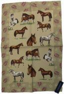ULSTER WEAVERS Linen Tea Towel HORSES 51x75cm NEW