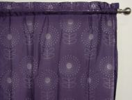 Purple Sheer Rod Pocket Curtain 1x140x213cm Ibiza Flower design - Great for girls room