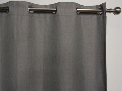 HARLOW Eyelet Blockout Ready Made Curtain 1x240x221cm Ironstone Grey Soft Drape