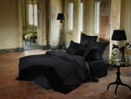 Linen House Isadora Double Bed Quilt Doona Cover Set black - sequins and jewells