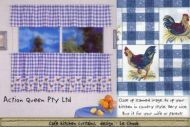 CAFE KITCHEN CURTAIN 200X60 LE CHOOK CHICKEN DESIGN Polyester Cotton Not Sheer