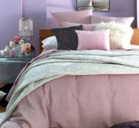 DOUBLE BED QUILT COVER ANGELINA Pink PLUS EUROS