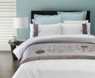 King Bed Quilt Cover Set LOUISE faux silk CAPRICE