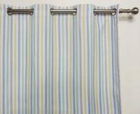 Marine Stripe Blockout Eyelet 1x135x221cm Ready Made Curtain
